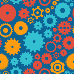 Seamless background pattern cogwheel.