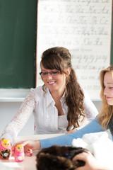 Schülerin im russisch Unterricht