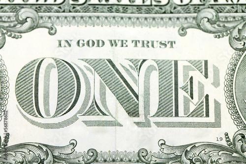 Macro image of a dollar.