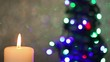 Flame of candle with christmas tree
