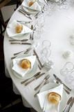 Banquet, mariage, restaurant, table, dîner, repas, fête