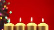 Four christmas candles for advent