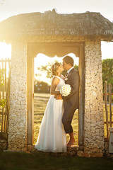 rustic wedding in summer village