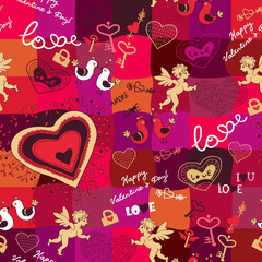 background with love cute elements