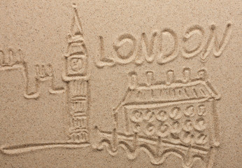 London painted by in the sand