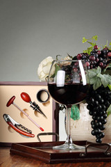 Sommelier kit and tools composition