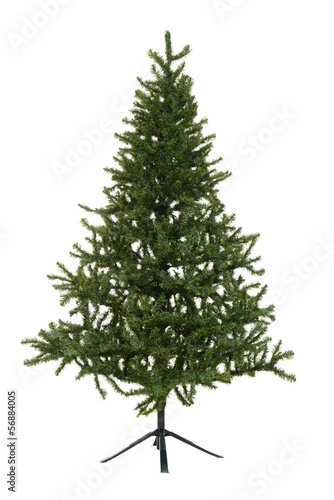 isolated fake christmas tree