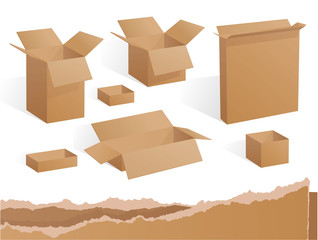 Packaging boxes. Vector.