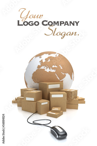 Global consignment with cardboard texture