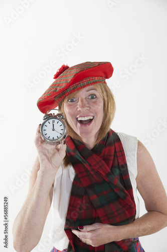Woman celebrating the New Year