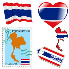 national colours of Thailand