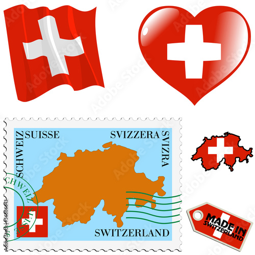 national colours of Switzerland