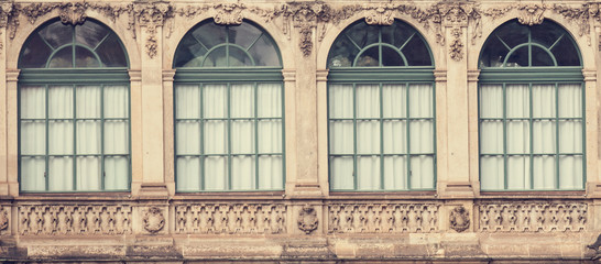 Windows in palace in Dresden