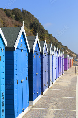 Bournemouth Beach huts, Dorset.