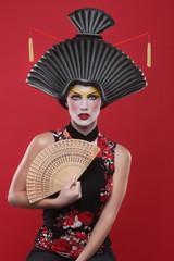Beauty Concept of a Geisha Girl