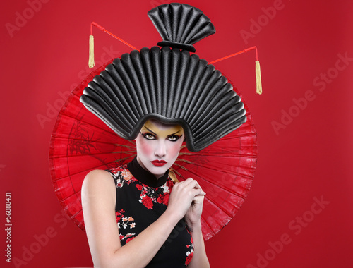Beauty Concept of a Geisha Girl