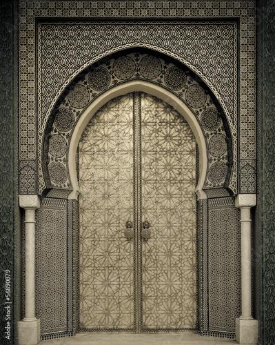 Foto op Canvas Marokko Ancient doors, Morocco