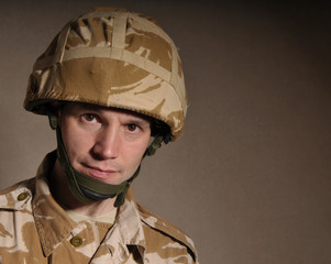 Portrait Of British Soldier