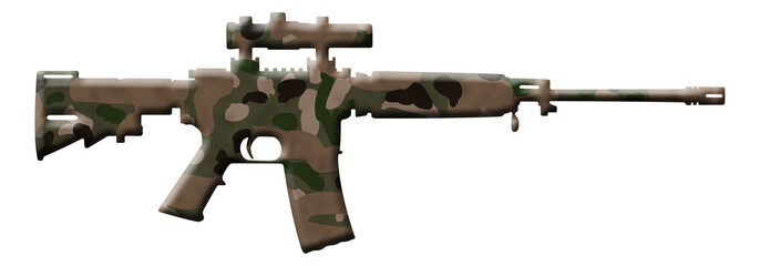 Camouflage Rifle