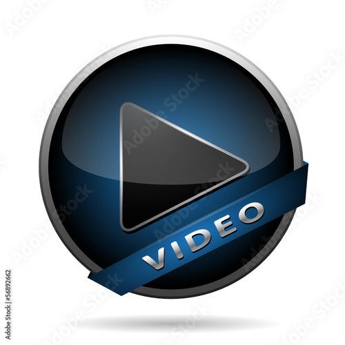 video play icon blue