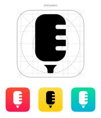 Studio microphone icon.