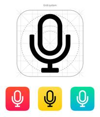 Retro microphone icon.