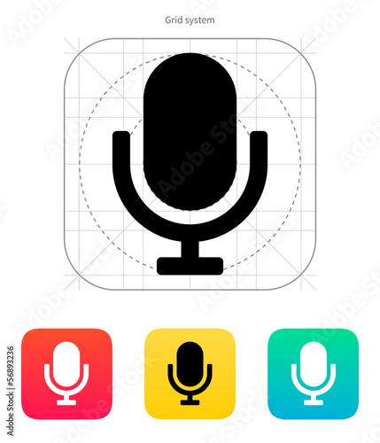 Retro microphone icon.