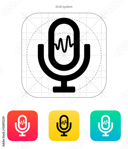 Microphone signal icon.