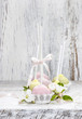 Pastel cake pops in romantic spring set. Popular american desser