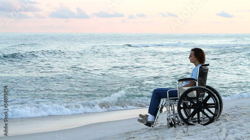 Disabled Woman Lonely