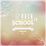 Back to School Typographic Elements - Vintage Style