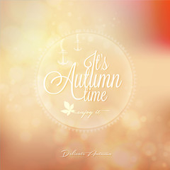 It's Autumn time Typography