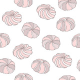 Meringue seamless pattern