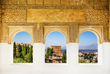 Windows at the Alhambra, Granada, Spain.