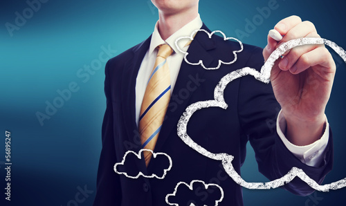 Connectivity through cloud computing concept