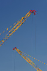 Cranes in construction site