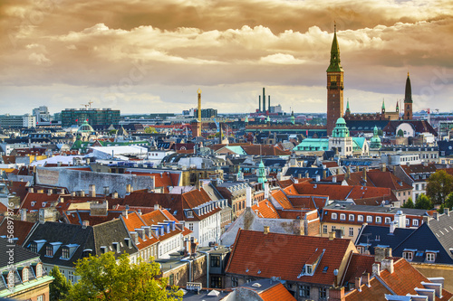 canvas print picture Copenhagen Skyline
