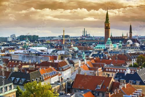 Poster Copenhagen Skyline