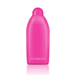 Pink vanishing liquid bottle.