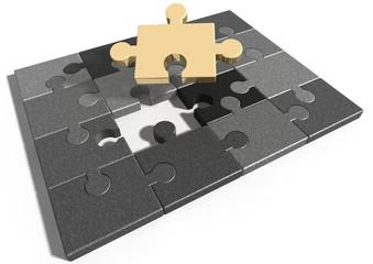 Puzzle - fehlendes Puzzlestück