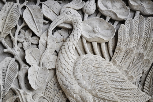 balinese wall carving