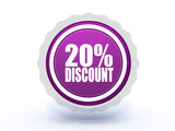 discount star icon on white background
