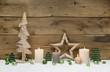 Rustikale Weihnachtskarte mit Holz - Grußkarte weihnachtlich