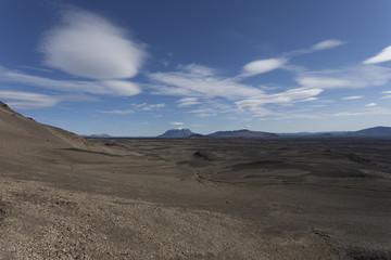 Deserto di sabbia e roccia lavica in Islanda