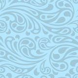 Water splash seamless waves abstract pattern. poster