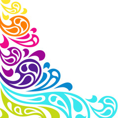 Color splash waves abstract background.