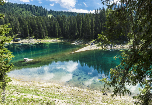 Carezza's lake colors in summer season