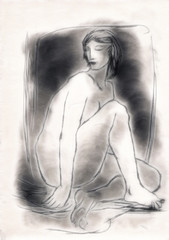 Sitting Nude Figure