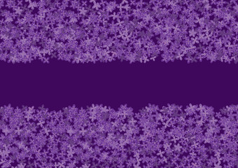 floral banner with lilac