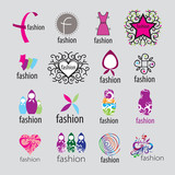 Collection of vector logos fashion accessories and clothing